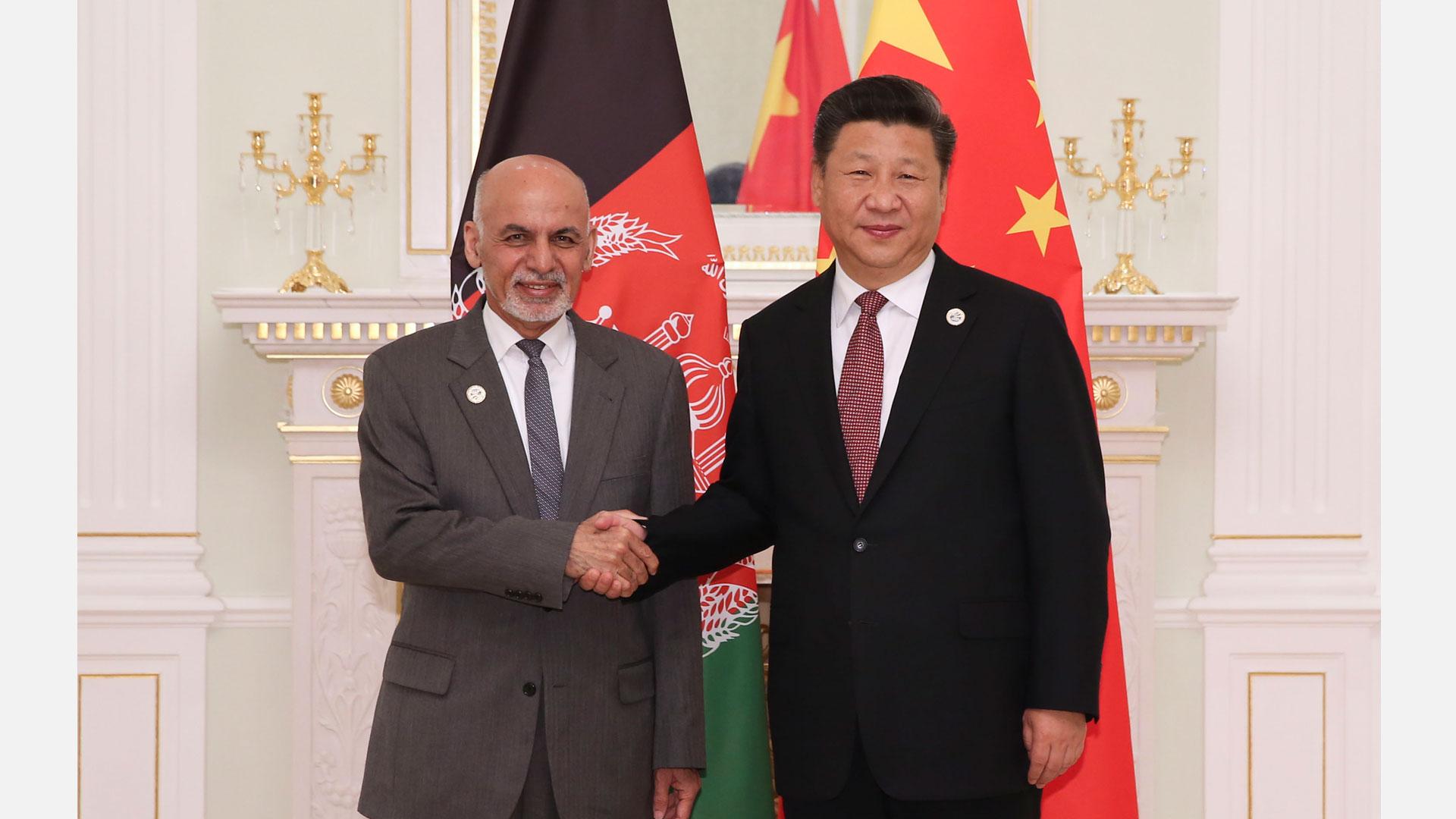 習近平會見阿富汗總統加尼