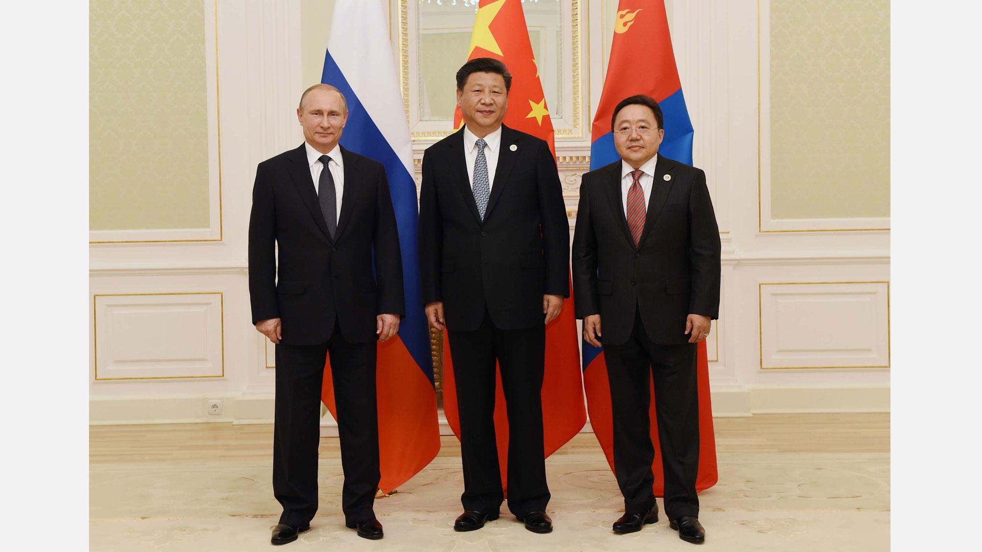 習近平主持中俄蒙三國元首第三次會晤