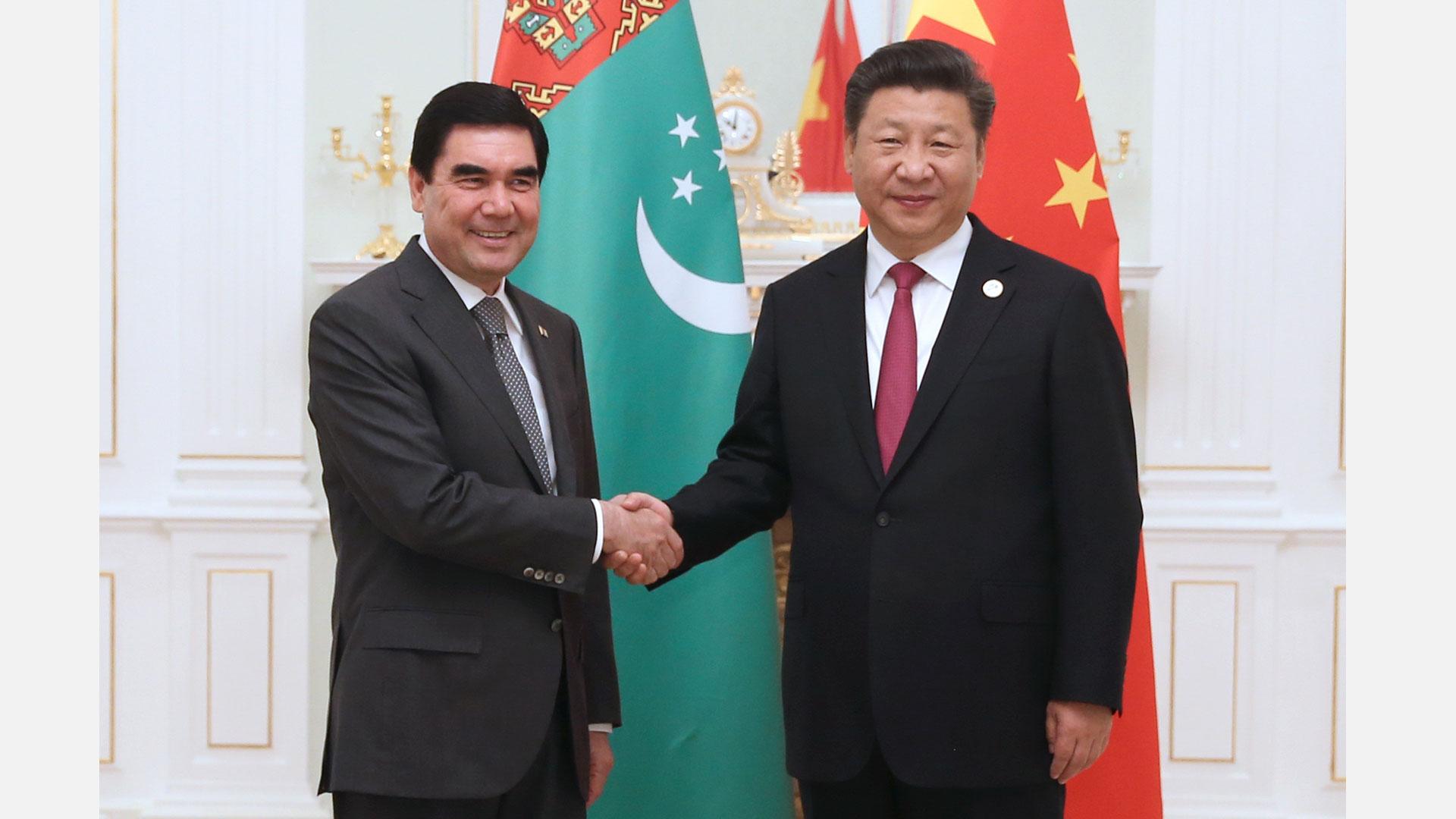 習近平會見土庫曼斯坦總統別爾德穆哈梅多夫
