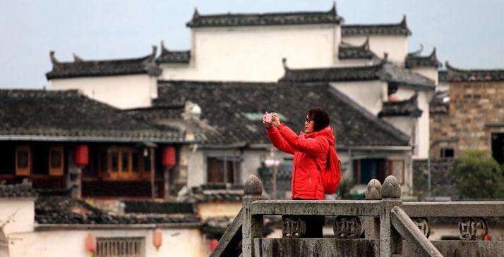 安徽宏村冬景如畫