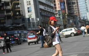 重庆气温飙升逼近30℃