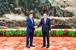李克強會見41國和國際機構新任駐華使節和代表
