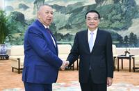 李克強會見吉爾吉斯斯坦第一副總理博羅諾夫