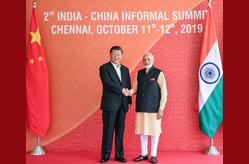 習近平同印度總理莫迪在金奈繼續舉行會晤