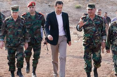 敘利亞總統視察西北前線