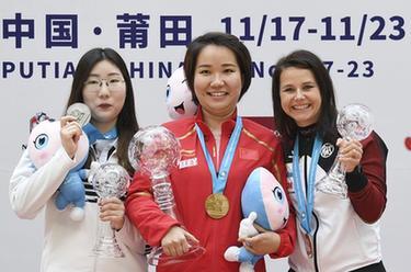 射擊——2019年國際射聯步手槍世界杯總決賽:張靖婧獲女子25米手槍冠軍