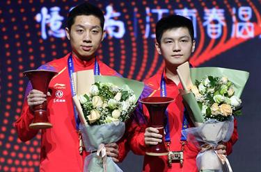 乒乓球——世界巡回賽總決賽:樊振東/許昕男雙奪冠