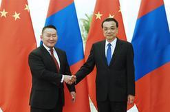 李克強會見蒙古國總統巴特圖勒嘎