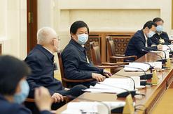 栗戰書參加十三屆全國人大常委會第十七次會議分組審議