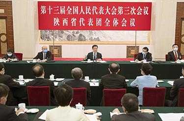 韓正參加陜西代表團審議