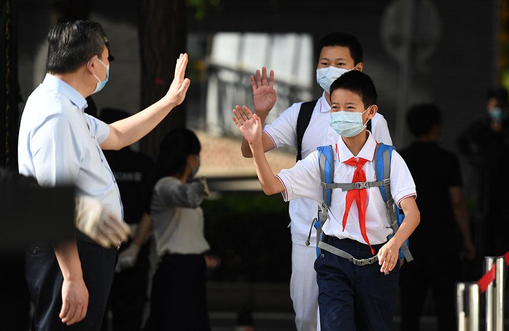 北京:40多萬名中小學生返校