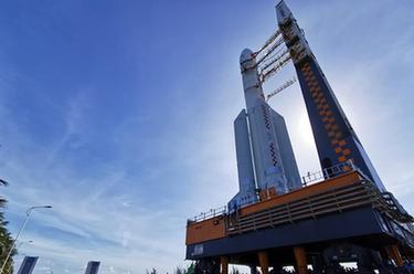 長徵五號遙四運載火箭垂直轉運至發射區 計劃擇機實施我國首次火星探測任務