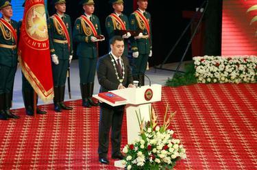 扎帕羅夫就任吉爾吉斯斯坦總統