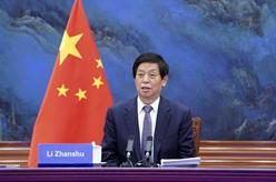 栗戰書同蒙古國國家大呼拉爾主席讚丹沙塔爾舉行會談
