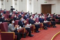 全國人大常委會黨組成員與人大機關黨員幹部一起聽黨史輔導報告 栗戰書出席