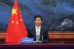 栗戰書同老撾國會主席賽宋蓬舉行會談