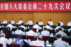 十三屆全國人大常委會第二十九次會議舉行聯組會議 栗戰書出席並講話