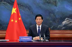 栗戰書同越南國會主席王庭惠舉行會談