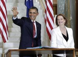 美國總統奧巴馬訪問澳大利亞