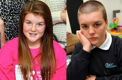 英女生为筹善款剪短发被学校禁课