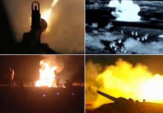 解放軍在雲南實彈演習 彈炮密集映亮夜空