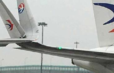 上海虹桥机场发生飞机机翼擦碰事故