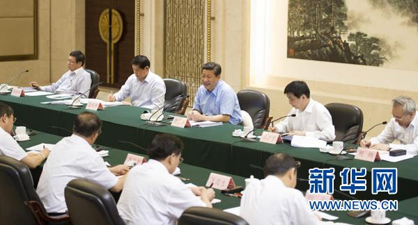 习近平在武汉召开部分省市负责人座谈会