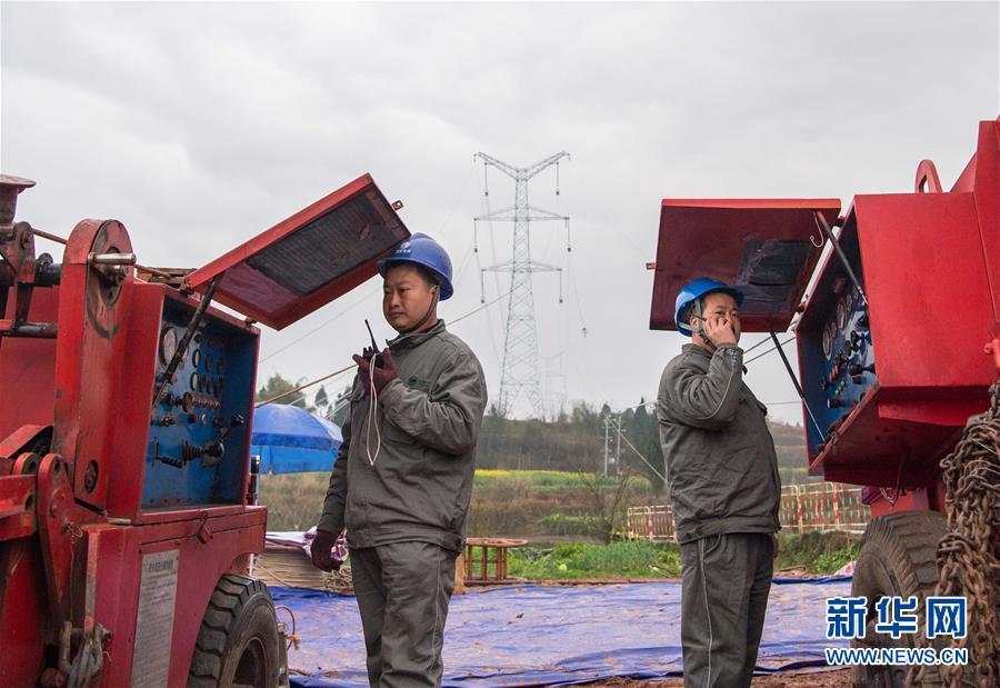 (經濟)(2)首條川電外送通道開始放線施工
