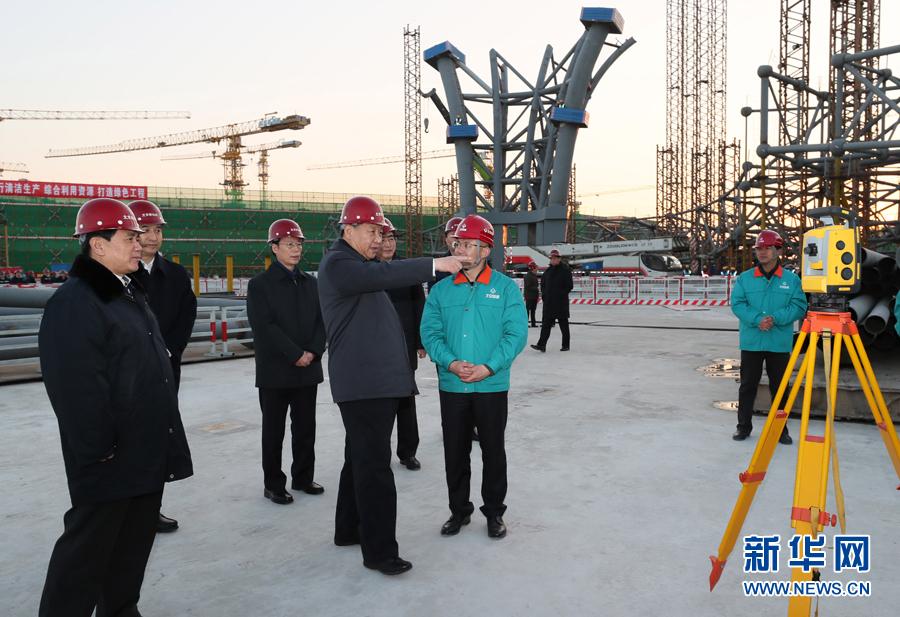 2月23日至24日,中共中央總書記、國家主席、中央軍委主席習近平在北京考察。這是23日下午,習近平在北京新機場主航站樓建設工地考察。     新華社記者 蘭紅光 攝
