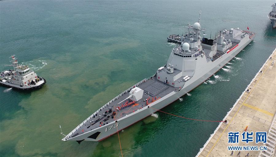 (圖文互動)(1)海軍南海艦隊遠海訓練編隊圓滿完成任務返回三亞