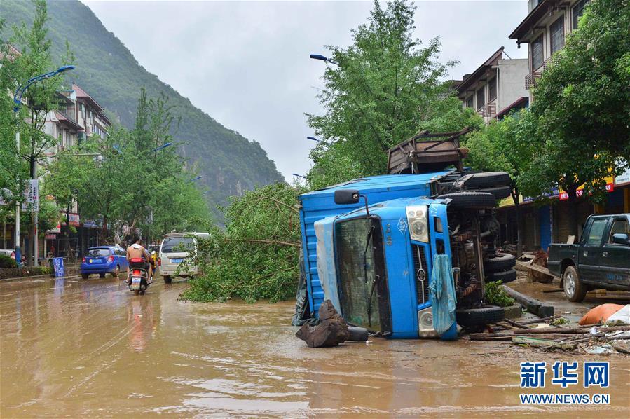(新華網)(1)廣西全州縣遭遇洪澇災害