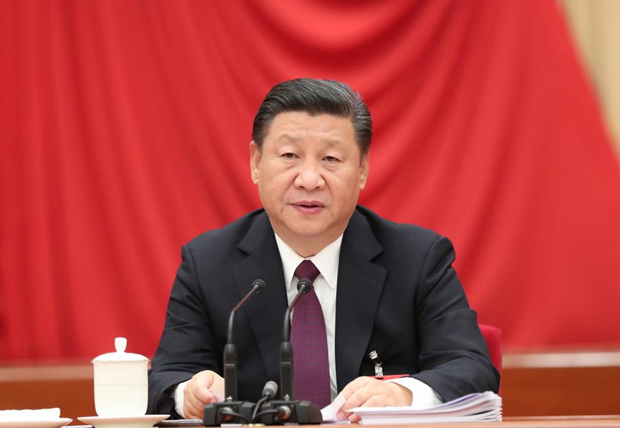 中國共産黨第十八屆中央委員會第七次全體會議,于2017年10月11日至14日在北京舉行。中央委員會總書記習近平作重要講話。新華社記者 馬佔成 攝