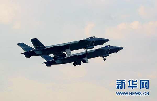 中国空军歼-20战机进行飞行训练(资料照片)。新华社发(李韶鹏)