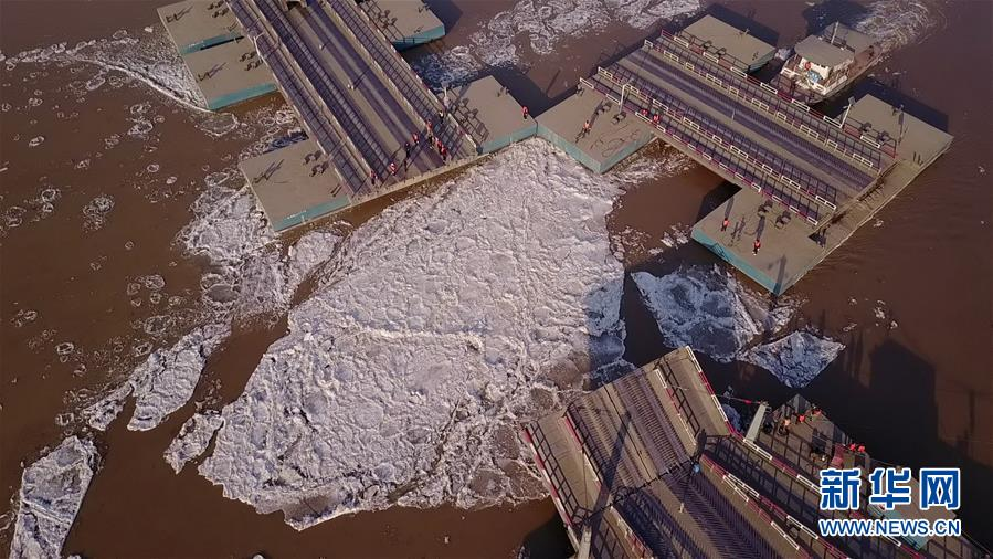 #(環境)(1)山東濟南:拆除浮橋迎淩汛