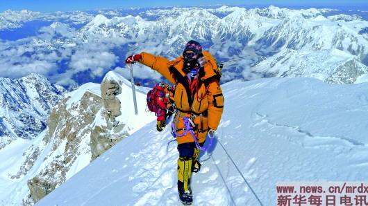 """中国民间女登山人罗静和她的""""14座""""8000米雪山"""