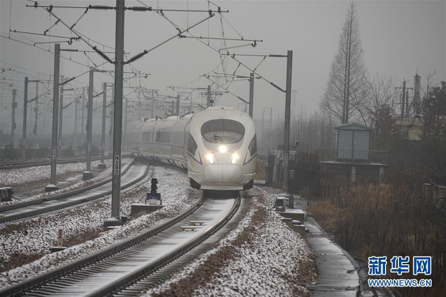 (社會)(1)受降雪天氣影響 長三角鐵路多趟列車晚點