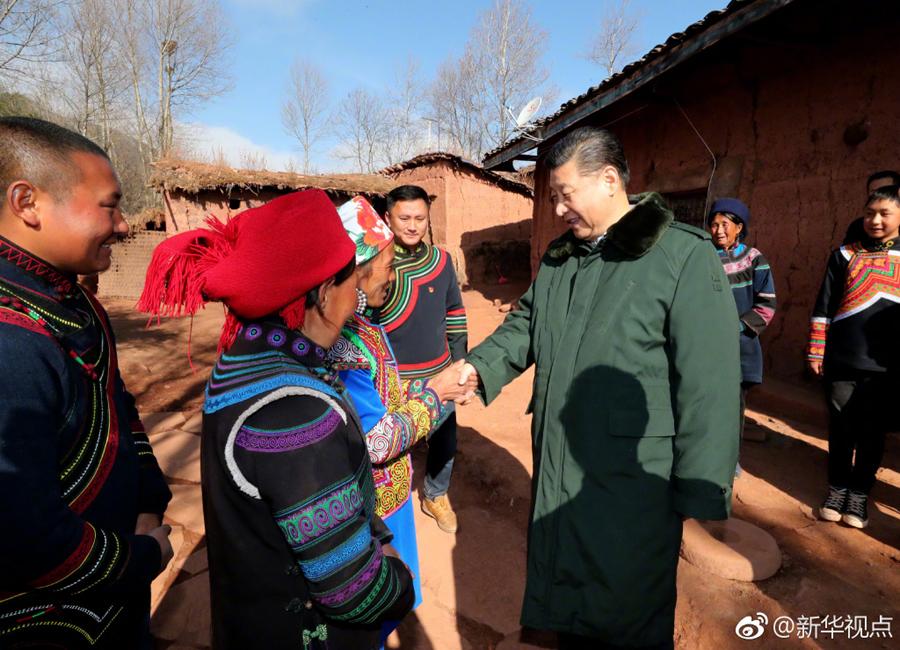 习近平深入大凉山考察  走进彝族贫困群众家中送温暖