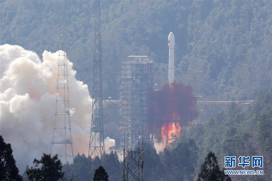 """(科技)(2)我国""""一箭双星""""成功发射两颗北斗三号全球组网卫星"""