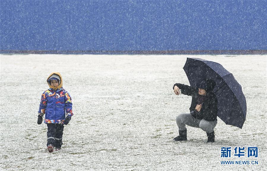 (環境)(3)北京迎來春雪