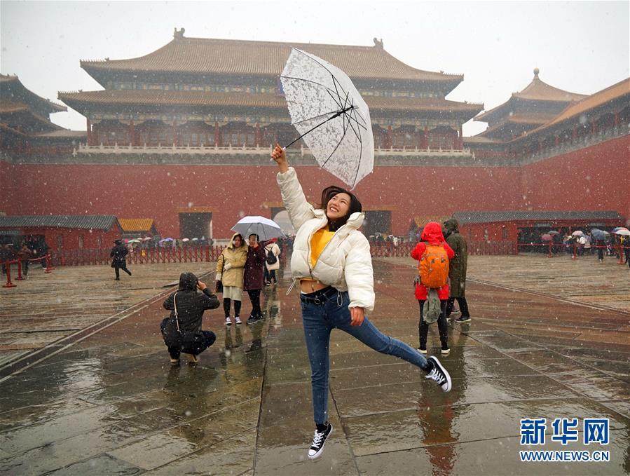 (環境)(15)北京迎來春雪