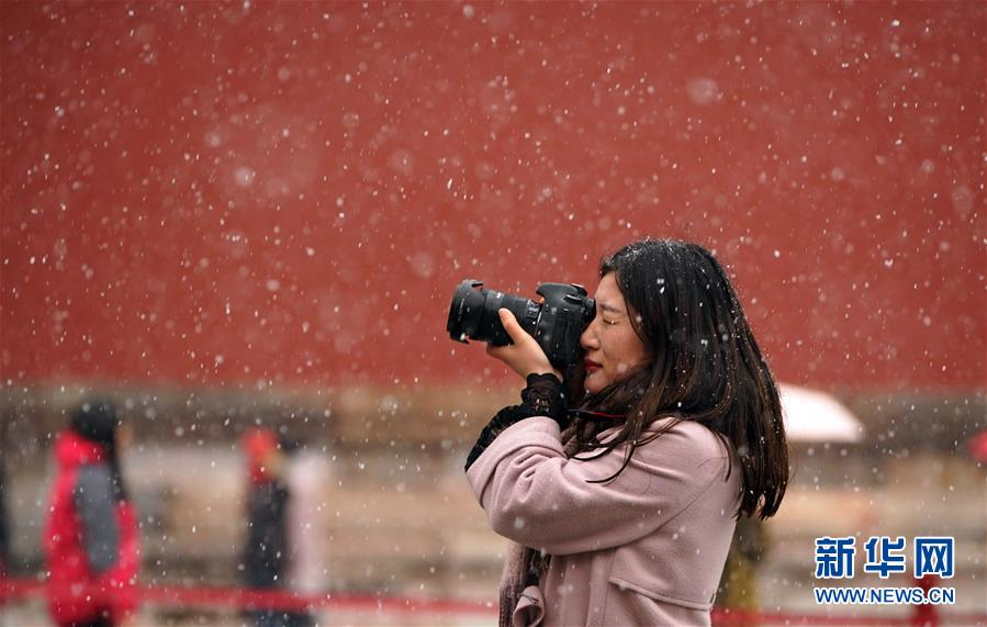 (環境)(17)北京迎來春雪