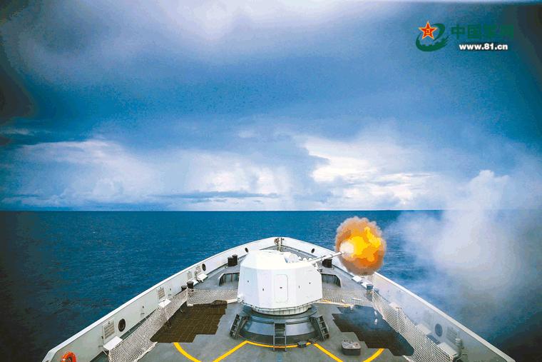 中国海军第29批护航编队进行实弹射击训练天基权半导体激光治疗仪