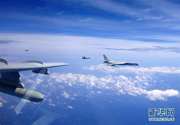 (图文互动)(3)空军多语种宣传片《战神绕岛新航迹》向海内外发布