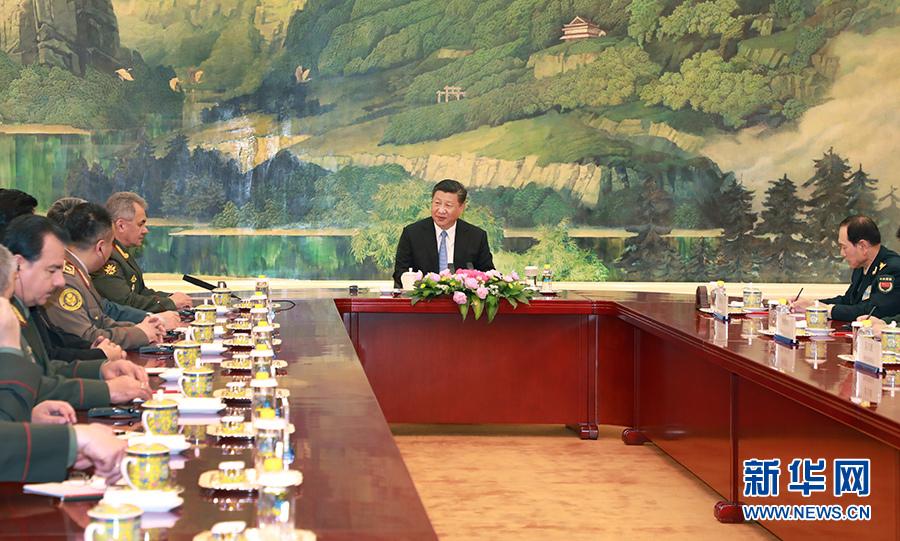 习近平集体会见上海合作组织成员国国防部长慈溪职高黄瓜门