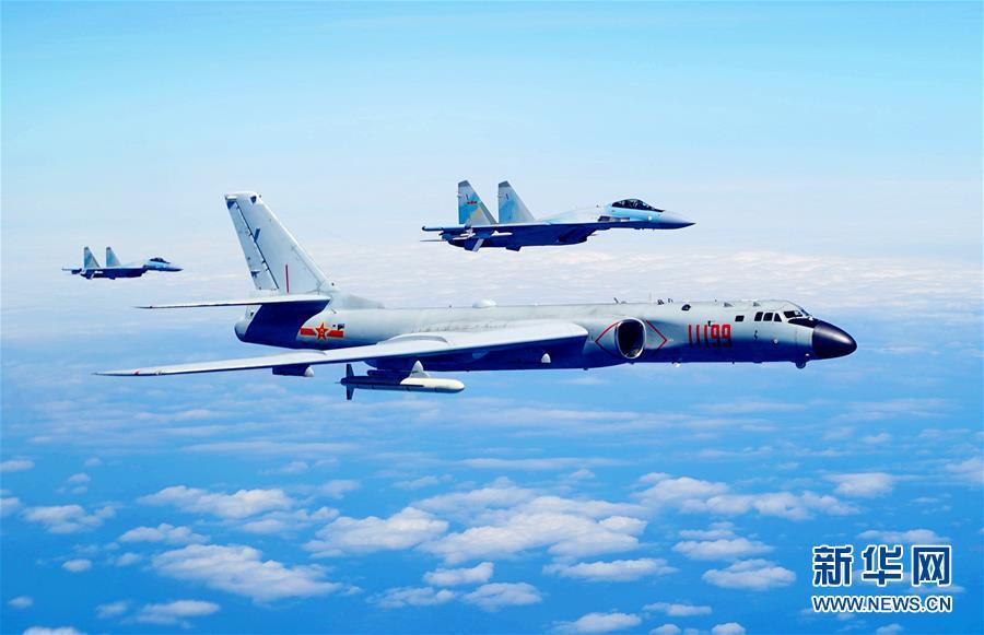 (图文互动)(1)空军发布宣传片展现歼-20、苏-35、轰-6K海上新航迹