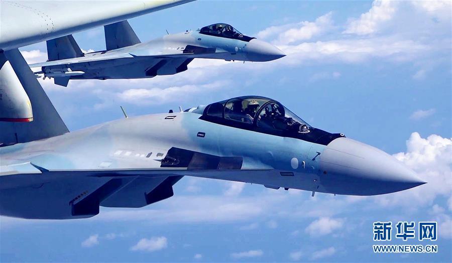 (图文互动)(2)空军发布宣传片展现歼-20、苏-35、轰-6K海上新航迹
