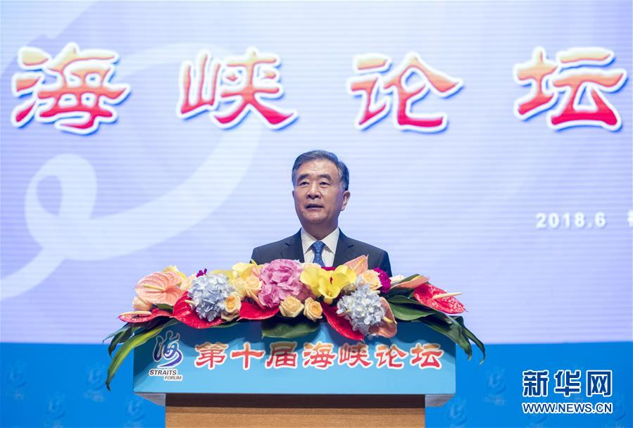 (时政)(1)汪洋出席第十届海峡论坛开幕式并致辞