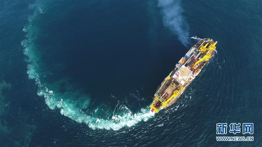 """(图文互动)(1)我国自主研发的疏浚重器""""天鲲号""""首次试航成功"""