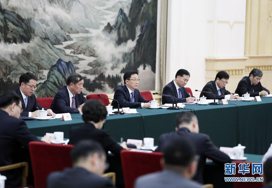 韩正:充分发挥粤港澳综合优势 深化内地与香港澳门合作