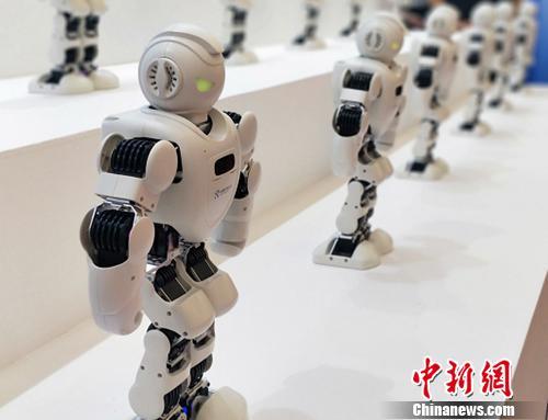 图为机器人大会现场。姚露 摄